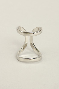 Twin Big Silver Ring at Lulus.com!