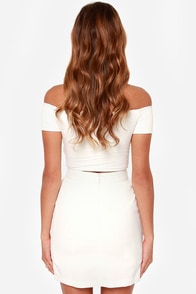 Notorious OMG Ivory Envelope Skirt at Lulus.com!