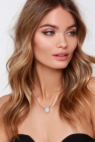 Last Enchants Clear Rhinestone Necklace at Lulus.com!