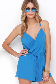 Looky Here Blue Romper at Lulus.com!