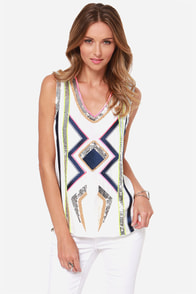 Bling to Light Ivory Sequin Top at Lulus.com!