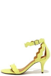 Chinese Laundry Rubie Lime Yellow Kitten Heels at Lulus.com!
