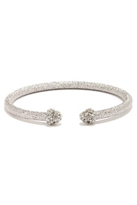 Star Studded Affair Silver Rhinestone Bracelet at Lulus.com!