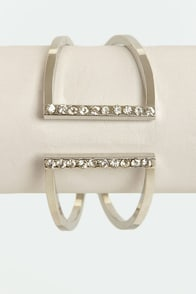 Glam Band Silver Rhinestone Cuff at Lulus.com!