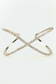 Hugs and Kisses Silver Rhinestone Bracelet at Lulus.com!