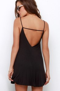 Won Way Street Black Dress at Lulus.com!