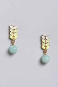 Crystal Skies Pastel Earrings at Lulus.com!