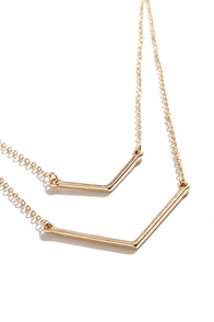 Pointed Sisters Gold Layered Necklace at Lulus.com!