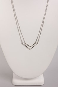 Pointed Sisters Silver Layered Necklace at Lulus.com!