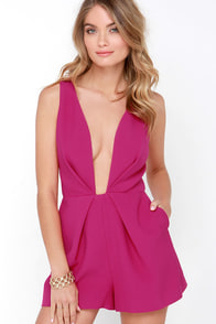 Finders Keepers The Creator Fuchsia Romper at Lulus.com!