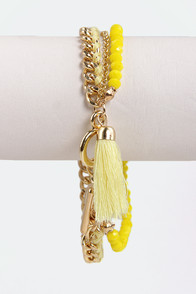 Starting Lineup Yellow Bracelet at Lulus.com!