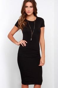 Laurel Canyon Black Midi Dress at Lulus.com!
