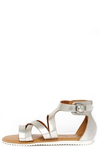 Saw You There Silver Sandals at Lulus.com!