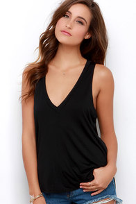 Sweet Interlude Black Sleeveless Top at Lulus.com!
