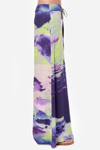 Somedays Lovin' Electric Volcano Purple Print Pants at Lulus.com!