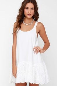 Somedays Lovin' Pit Stop Ivory Lace Dress at Lulus.com!