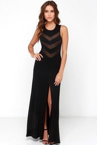 Never Mesh a Beat Black Maxi Dress at Lulus.com!