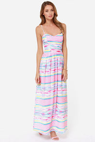 Jack by BB Dakota Jaxine Pink Striped Maxi Dress at Lulus.com!