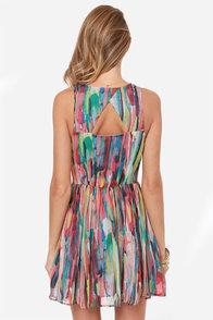 Jack by BB Dakota Kenza Multi Print Dress at Lulus.com!