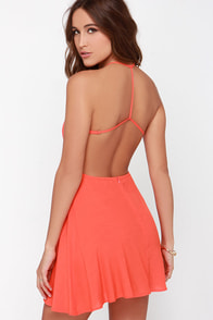 Flare for You Orange Backless Dress at Lulus.com!