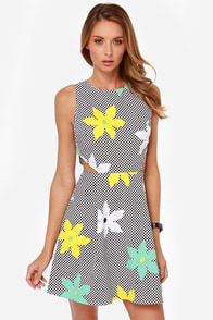 Jack by BB Dakota Vince Checkered Print Dress at Lulus.com!