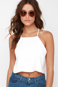 I'm Your Girl Ivory Crop Top at Lulus.com!