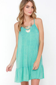 Adelaide Washed Mint Green Dress at Lulus.com!