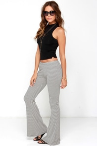 Warwick Cream and Grey Striped Pants at Lulus.com!