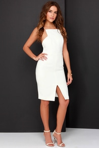 Keepsake Restless Heart Ivory Midi Dress at Lulus.com!