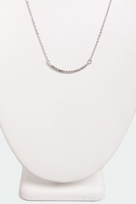 Curve-ous Nelly Silver Rhinestone Necklace at Lulus.com!