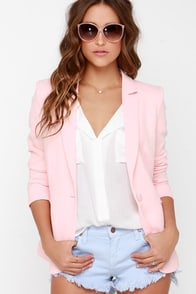 Hustle and Bustle Peach Blazer at Lulus.com!
