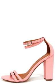 One Little Song Pink High Heel Sandals at Lulus.com!
