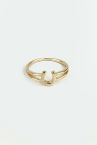 If the Horseshoe Fits Gold Knuckle Ring at Lulus.com!