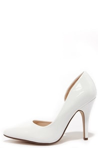 Up and Stunning White D'Orsay Pumps at Lulus.com!