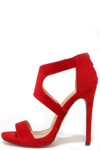 Twirl-wind Red Suede Dress Sandals at Lulus.com!