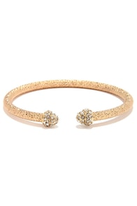 Star Studded Affair Gold Rhinestone Bracelet at Lulus.com!