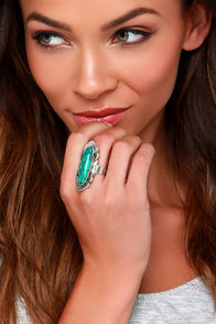Albuquerque Silver Turquoise Ring at Lulus.com!