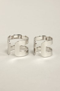 Couples Repeat Silver Ring Set at Lulus.com!
