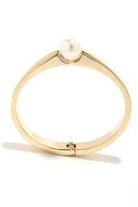Cherry on Top Gold and Pearl Bracelet at Lulus.com!