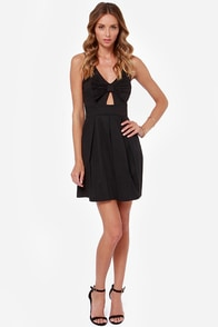 LULUS Exclusive Be So Bow-ld Cutout Black Dress at Lulus.com!