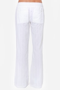 Billabong Coastline Wave White Pants at Lulus.com!