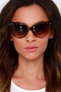 Right Meow Tortoise Sunglasses at Lulus.com!