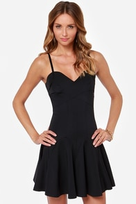 Leah Drop Waist Black Dress at Lulus.com!