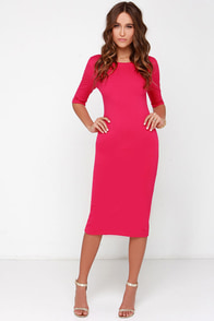 We Built This Midi Fuchsia Midi Dress at Lulus.com!