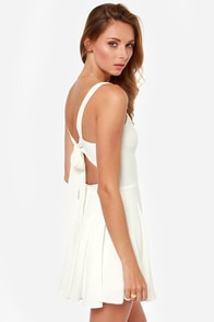 Rhythm My Tie Backless Ivory Dress at Lulus.com!