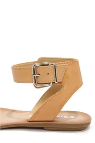 Dirty Laundry Bubbly Austin Natural Ankle Strap Sandals at Lulus.com!