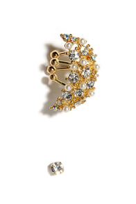 Set Aflame Gold Rhinestone Ear Cuff at Lulus.com!