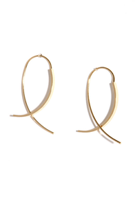 Time Spent Twinkling Gold Threader Earrings at Lulus.com!
