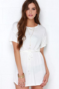 Tie As I May Ivory Dress at Lulus.com!
