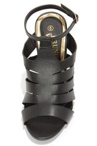 Bruno Valenti Brittney 4 Black Strappy Peep Toe Heels at Lulus.com!